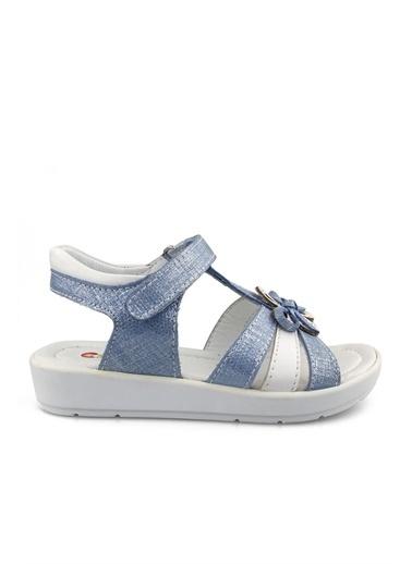 Cicibebe Deri Kız Çocuk Sandalet Mavi